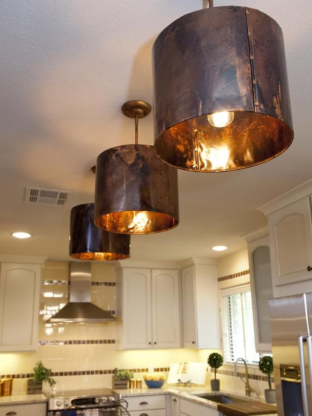 White Cottage Kitchen With Beadboard Cabinets And Bright Red Backsplash Designers Portfolio Hgtv Home Garden Television Round Tin Light Fixtures