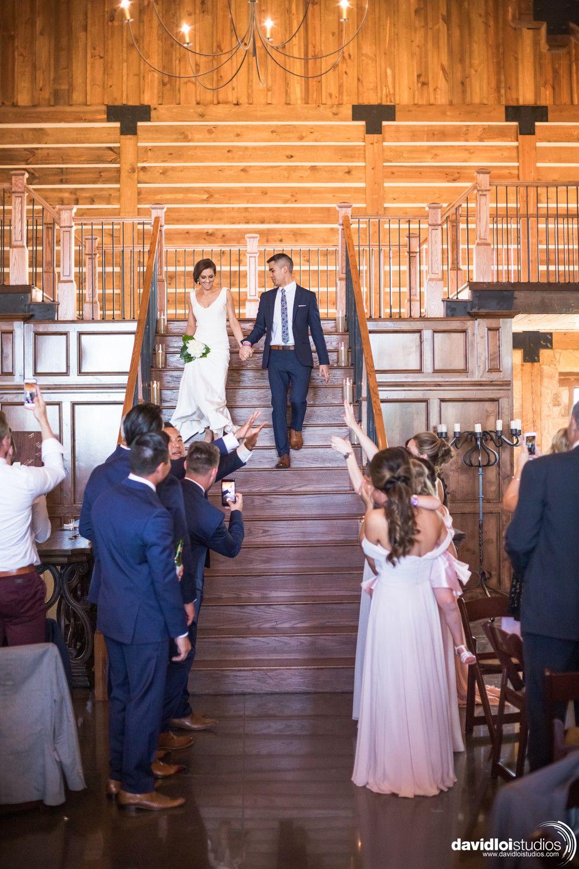 bride + groom wedding reception entrance | dallas lodge wedding