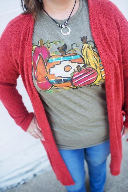 Aztec Pumpkins Graphic T-Shirt - XL