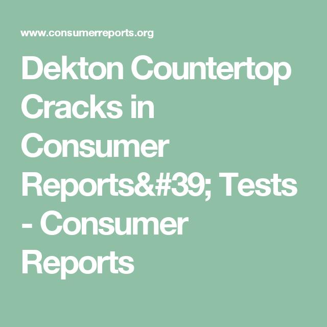 Dekton Countertop Cracks In Consumer Reports Tests Quiet Dishwashers Consumer Reports Dishwasher