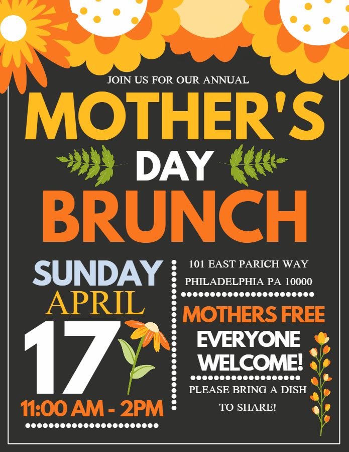 MotherS Day Lunch Flyer Design Click To Customize  MotherS Day