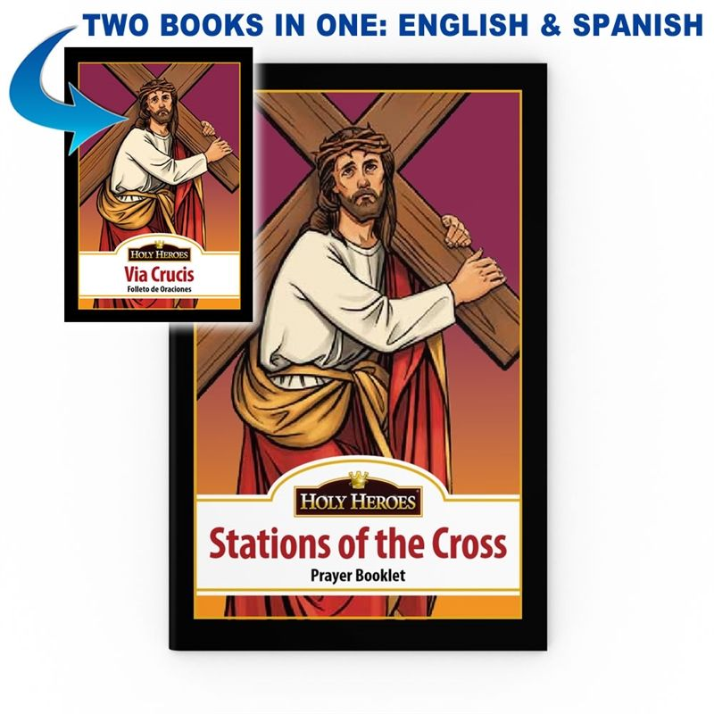"""Bilingual """"Stations of the Cross"""" Prayer Booklet"""