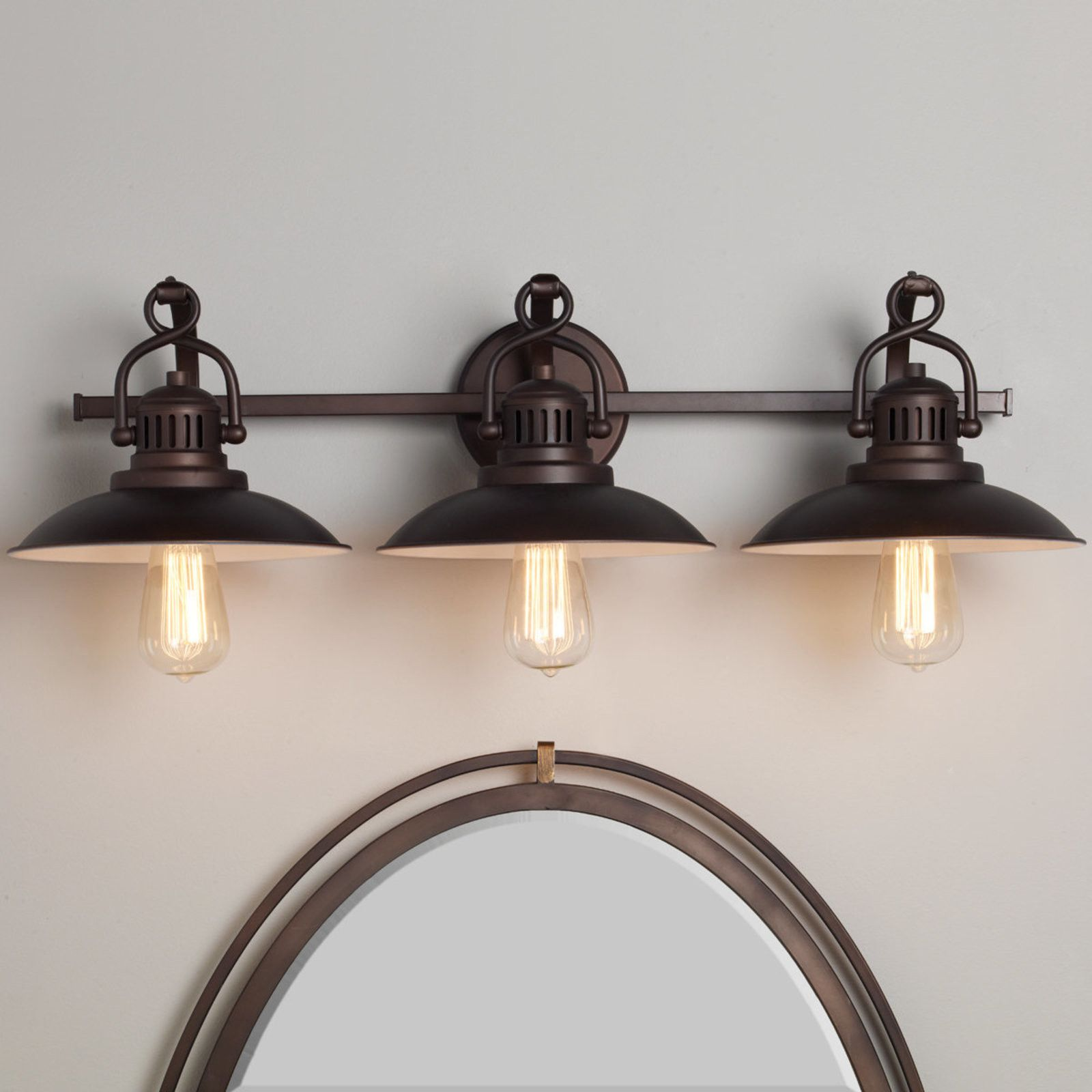 Nautical Bathroom Vanity Lights Station Lantern Bath Light 3 Light Shades Of Light Farmhouse Bathroom Light Vintage Bathroom Lighting Farmhouse Light Fixtures