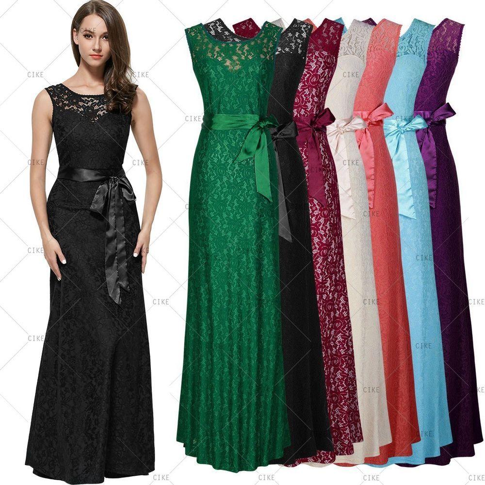 MIUSOL Womens Long Sexy Maxi Evening Bridesmaid Party Ball Gowns ...