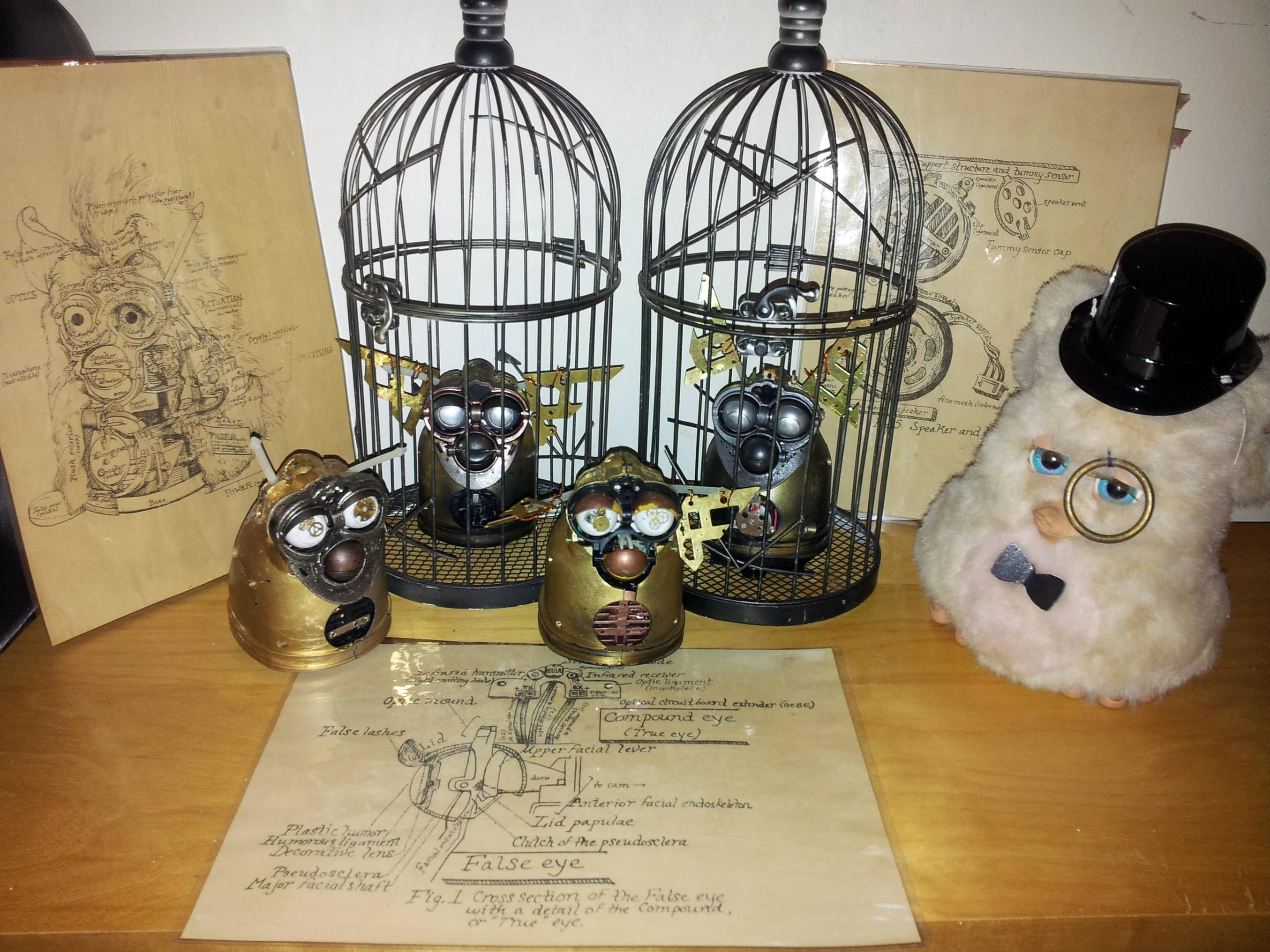 I See Your Steampunk Furby And Raise You My Collection Furbycircuitbendingjpg Imgur