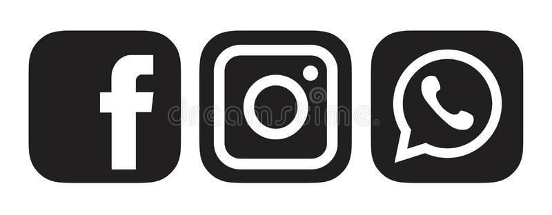 Black Facebook Instagram Whatsapp Logo Icon Srilanka December 27 2019 Black Fac Sponsored Sponsored Ad In Whatsapp Logo Icons Logo Icons Logo Facebook
