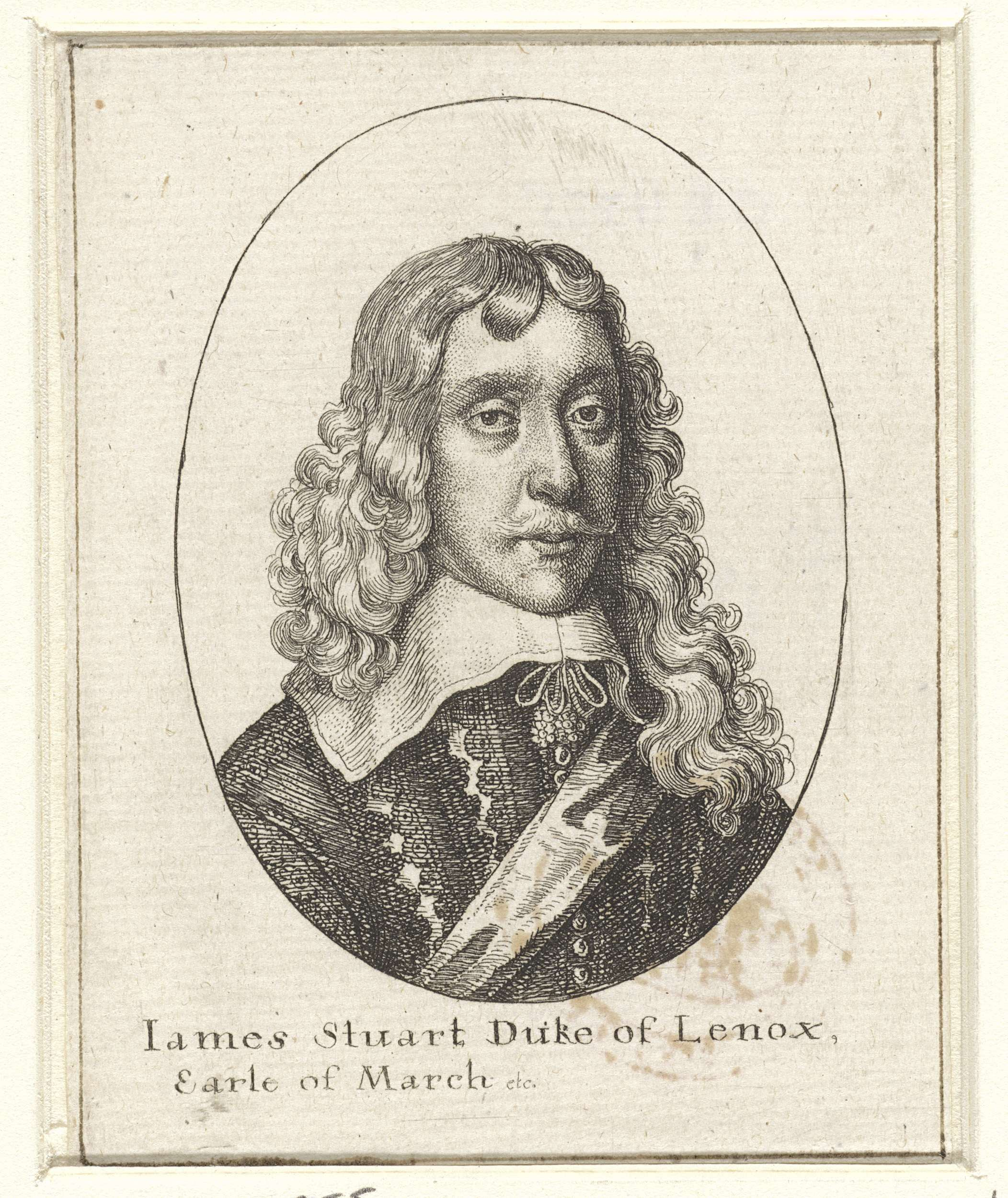 Wenceslaus Hollar | Portret van James Stuart, hertog van Lennox en Richmond, Wenceslaus Hollar, 1636 - 1644 |