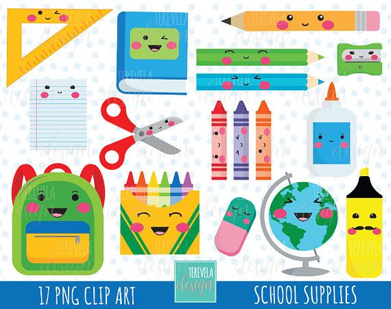 Back to school kawaii. Sale clipart teachers