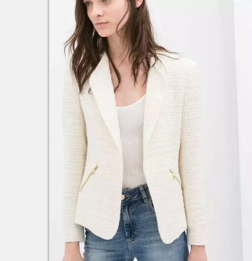 Barato 2016 mulheres blazers e jaquetas sólidos rosa ...