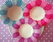 Sweet Pea Flower Baking Cups -