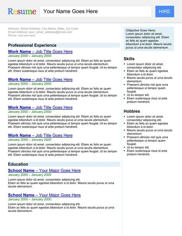 Search EngineResume  Templates Resume And Make Your