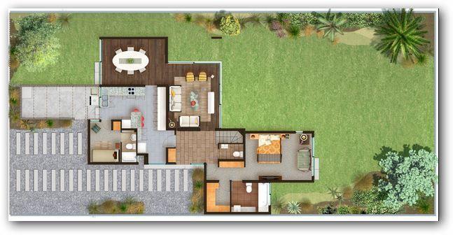 planos de casas quintas modernas