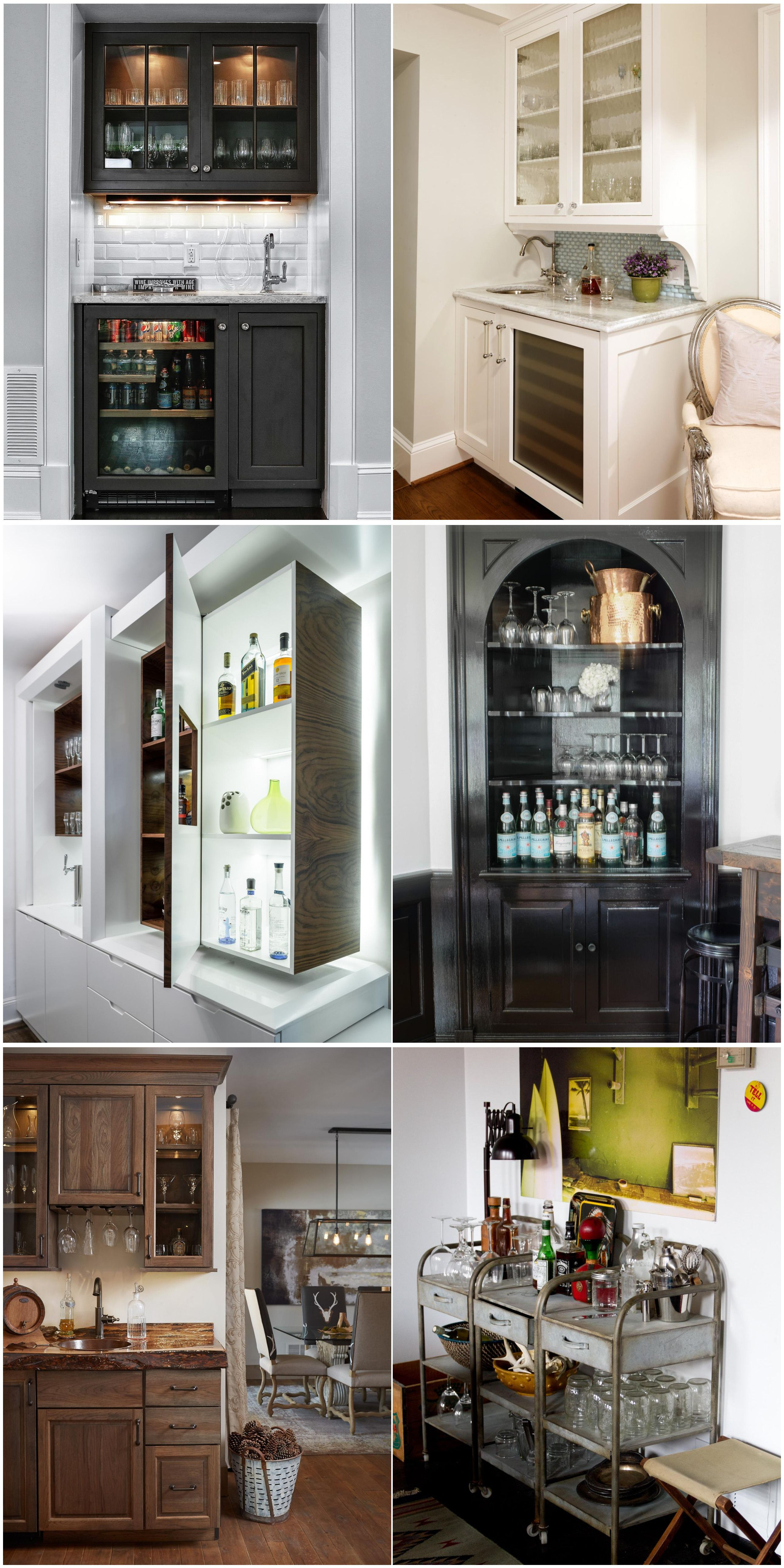 Stylish Home Bars Squeezed Into Small Spaces #bars