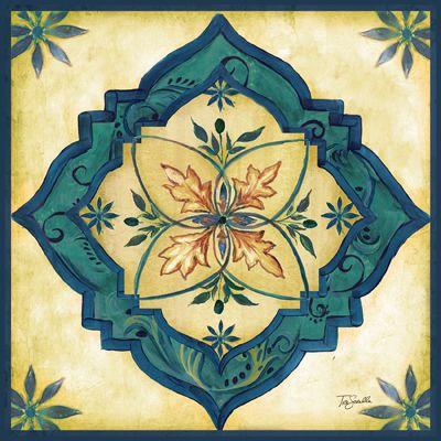 Moroccan tile i tre sorelle studios papeles para - Telas marroquies ...