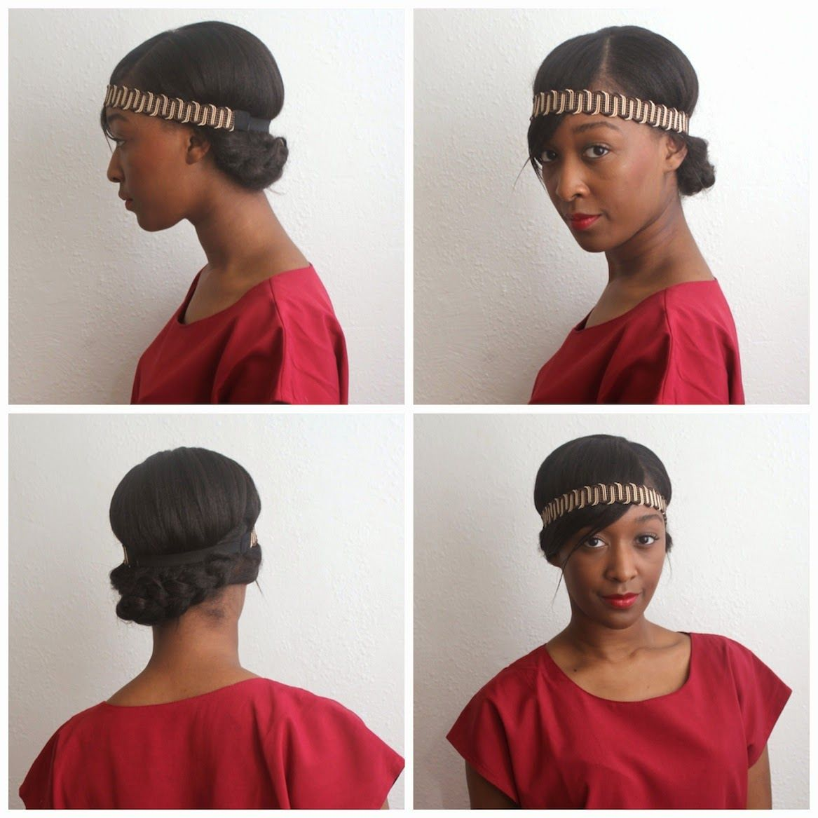 protective hairstyle relaxed hair