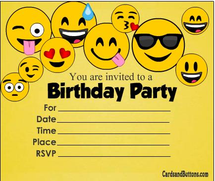free printable colorful emoji birthday