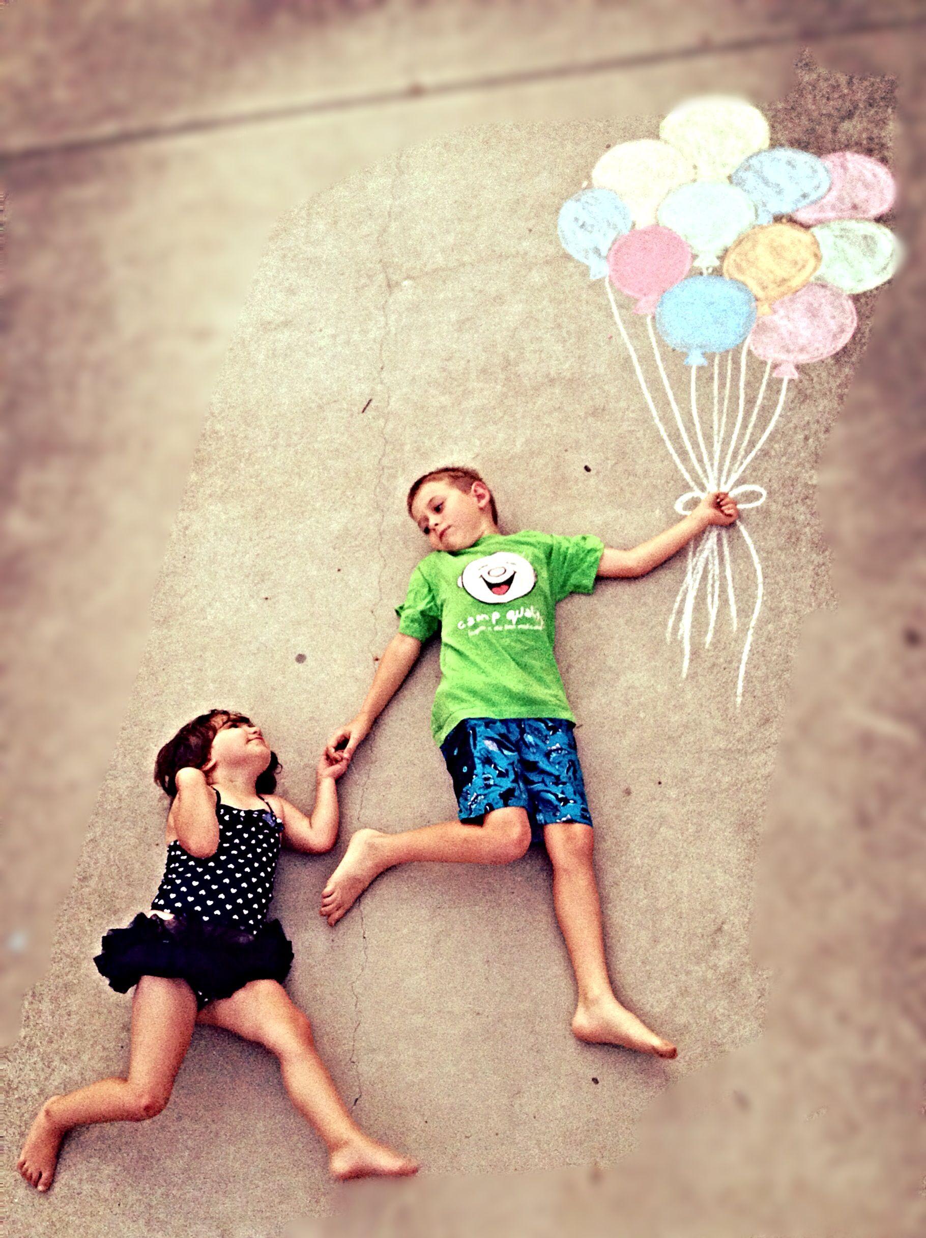 Chalk Photo Ideas Photography Kids Fun Craft