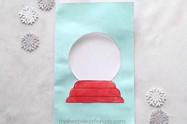 Snow Globe Template Card The Best Ideas For Kids Diy Christmas Cards Christmas Card Crafts Christmas Cards Handmade