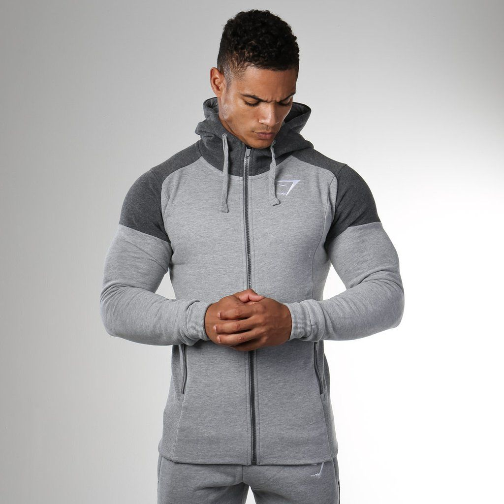 919197b80a8b9f Gymshark Pioneer Zip Hoodie - Light Grey at Gymshark