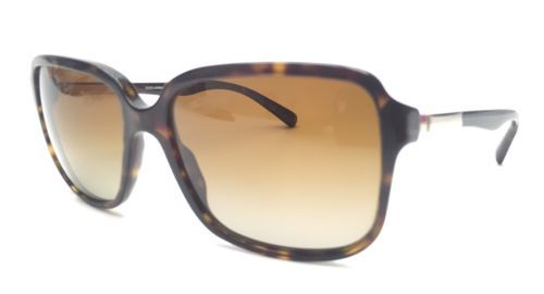 Dolce&Gabbana DG4172 Square Brown/Gold Tortoise Gradient Sunglasses $260