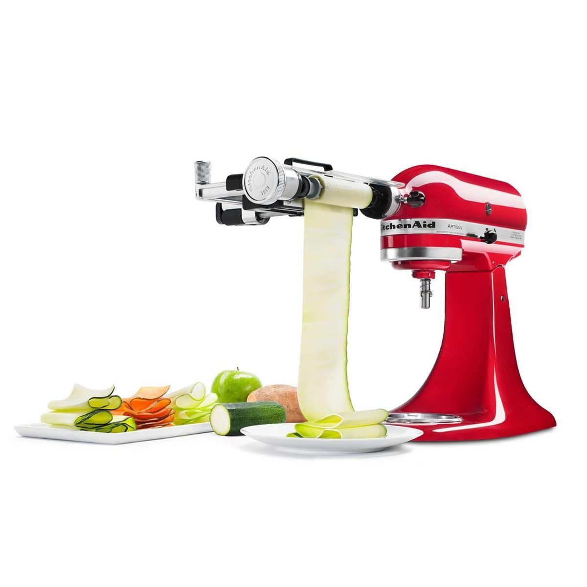 Der Gemüseblattschneider von KitchenAid zaubert aus Zucchini, Äpfeln ...