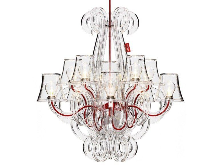 Led Polycarbonate Pendant Lamp Rockcoco By Fatboy Italia Design Demakersvan Outdoor Chandelier Pendant Lamp Chandelier