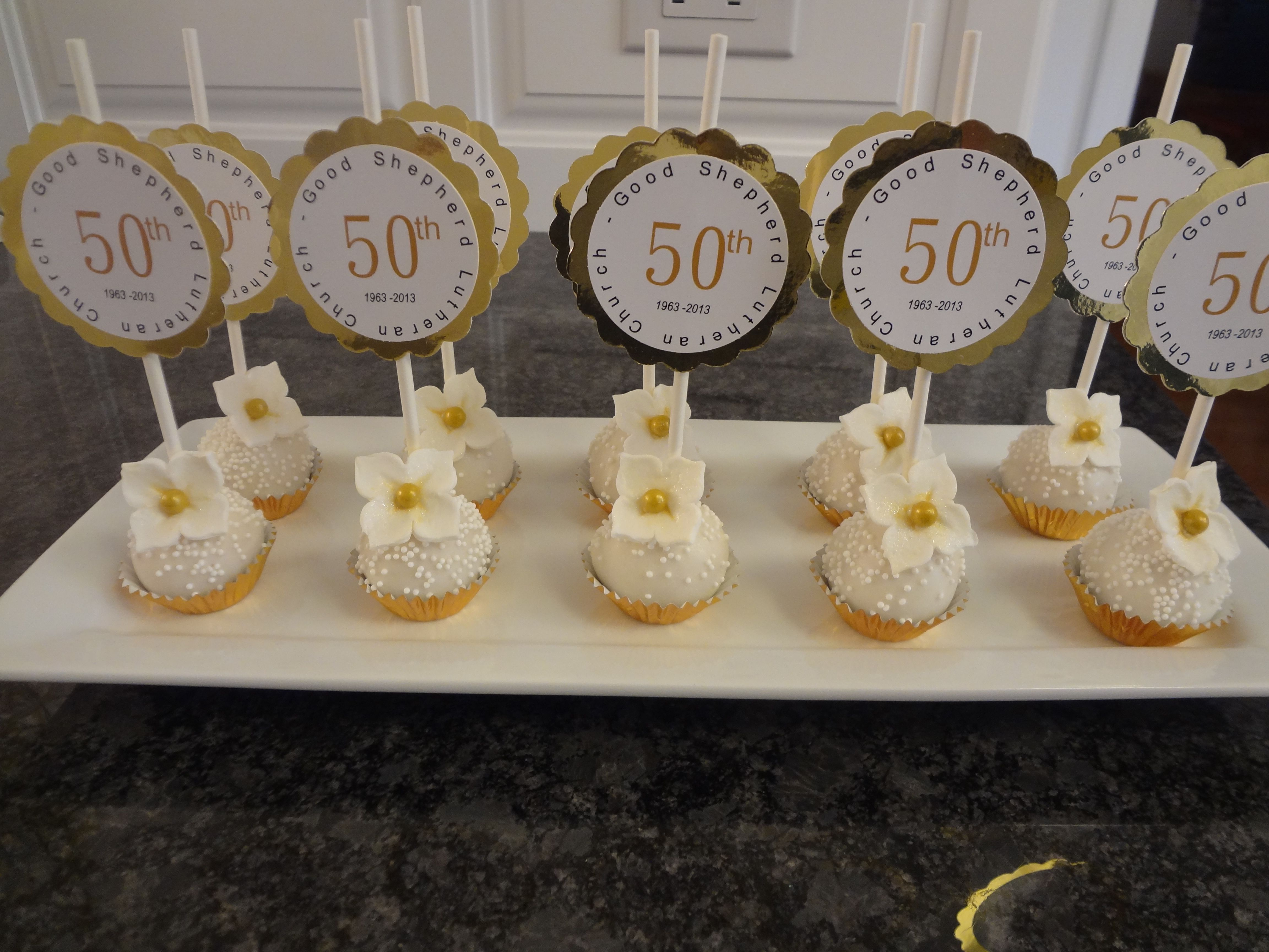 Cake pops for th anniversary party ideas pinterest