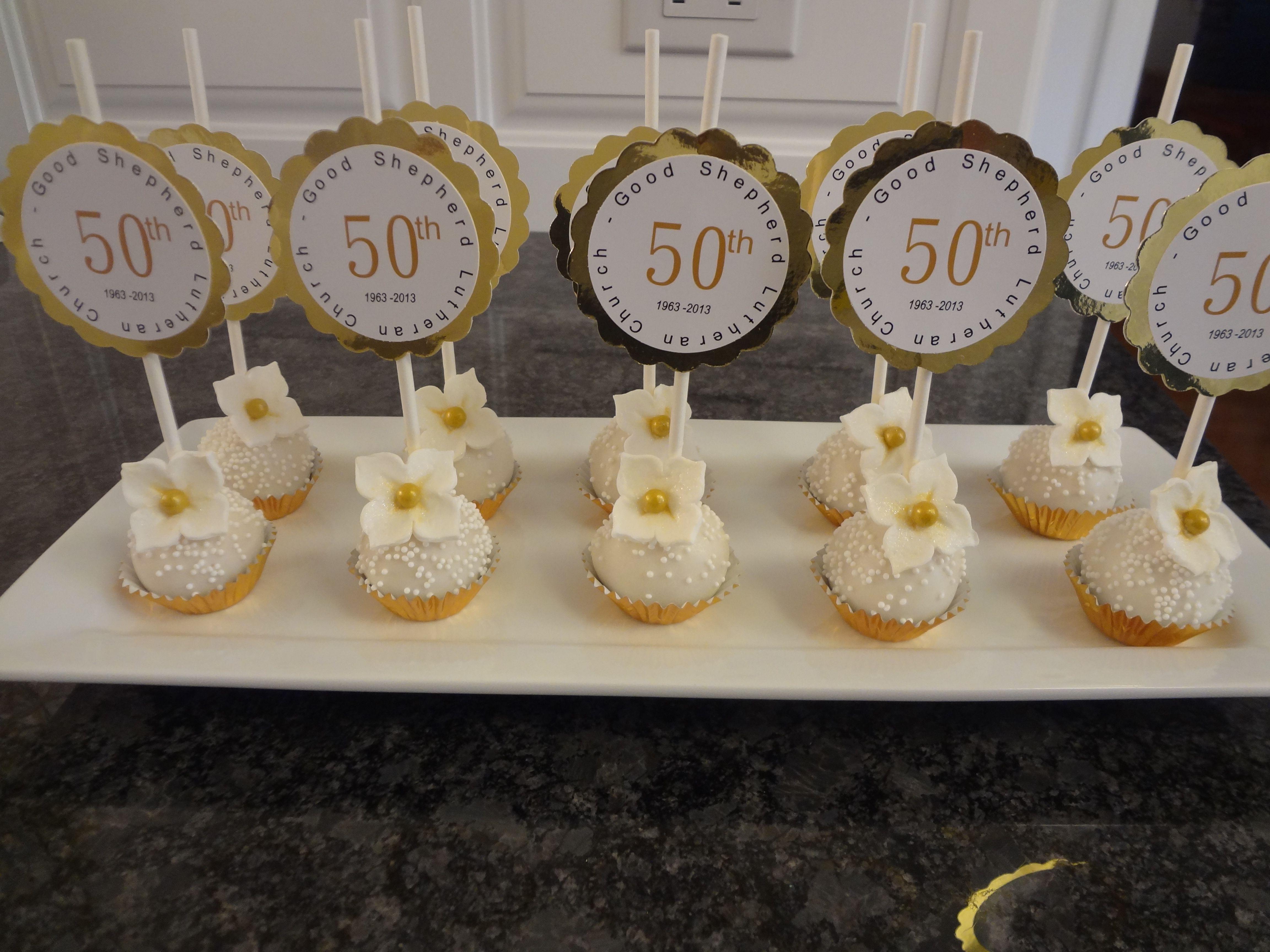 Sensational Cake Pops For 50Th Anniversary 50Th Anniversary Cakes 50Th Funny Birthday Cards Online Inifodamsfinfo