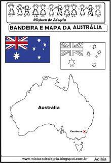 bandeira e mapa da austrlia