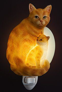 Cute Cat and kitten nightlight, purrfect for a child's bedroom, or even your own.
