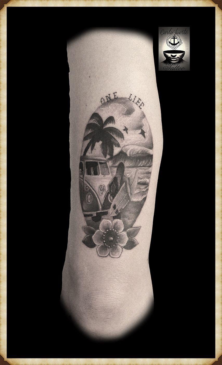 realiatic tattoo traditional tattoo sunset surf tattoo tattoo idea barcelona tattoo. Black Bedroom Furniture Sets. Home Design Ideas