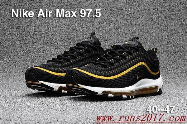 Nike Air Max 97.5 Black Gold Kpu | air max nike shoes | Pinterest | Air max  97, Air max and Black gold