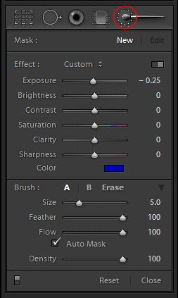 How to make the sky blue in lightroom