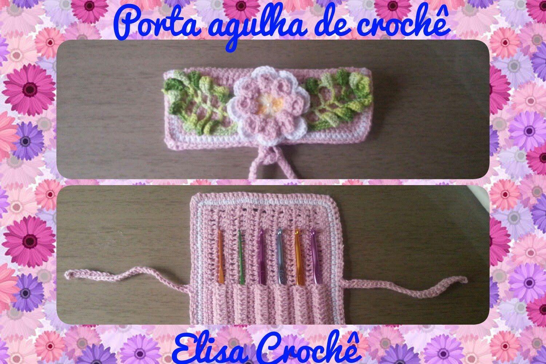 Porta agulha de crochê para bolsa # Elisa Crochê