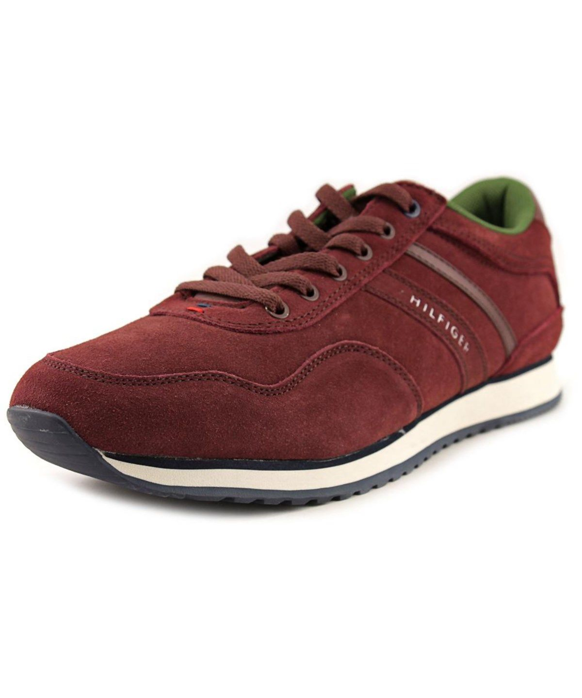 TOMMY HILFIGER TOMMY HILFIGER MARCUS 2   ROUND TOE SUEDE  SNEAKERS'. #tommyhilfiger #shoes #sneakers