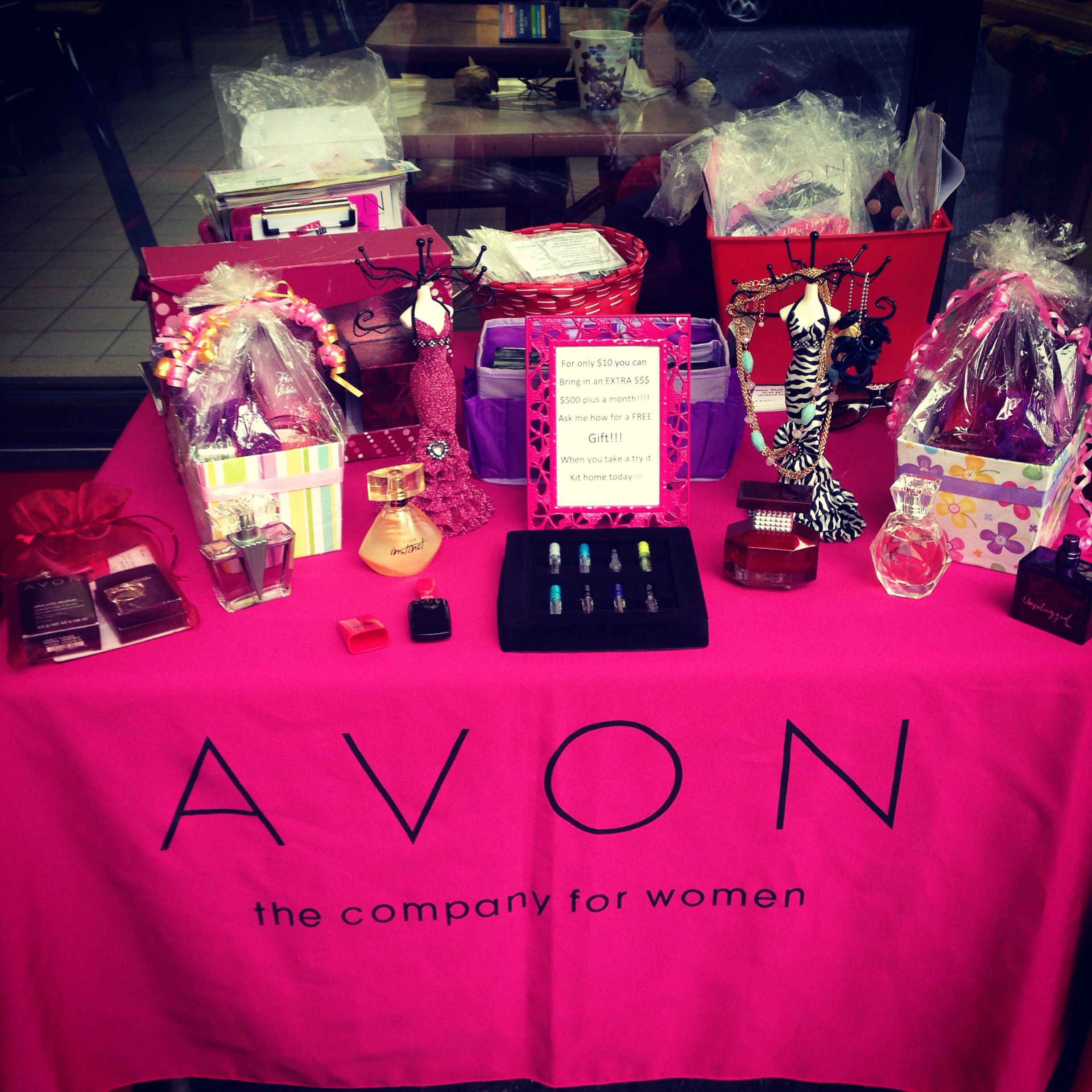 Great way to display your avon products Avon display