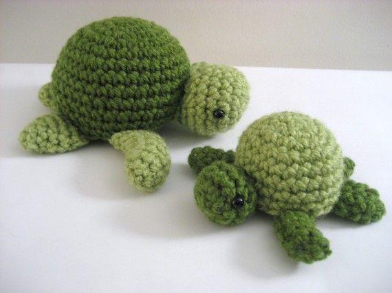 Amigurumi Turtle : Amigurumi crochet sea turtle pattern digital download turtle