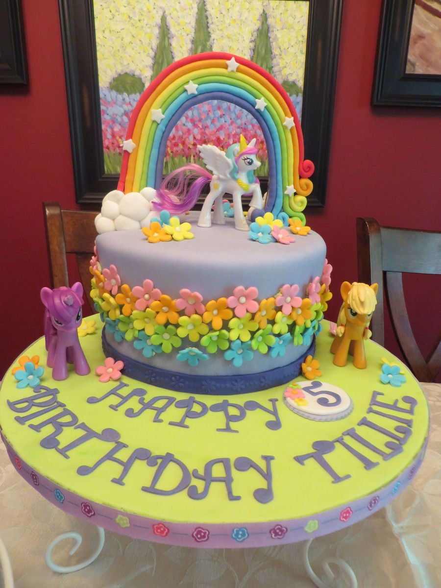 My Little Pony 5th Birthday 8 Chocolate 3 Layer Cake For My