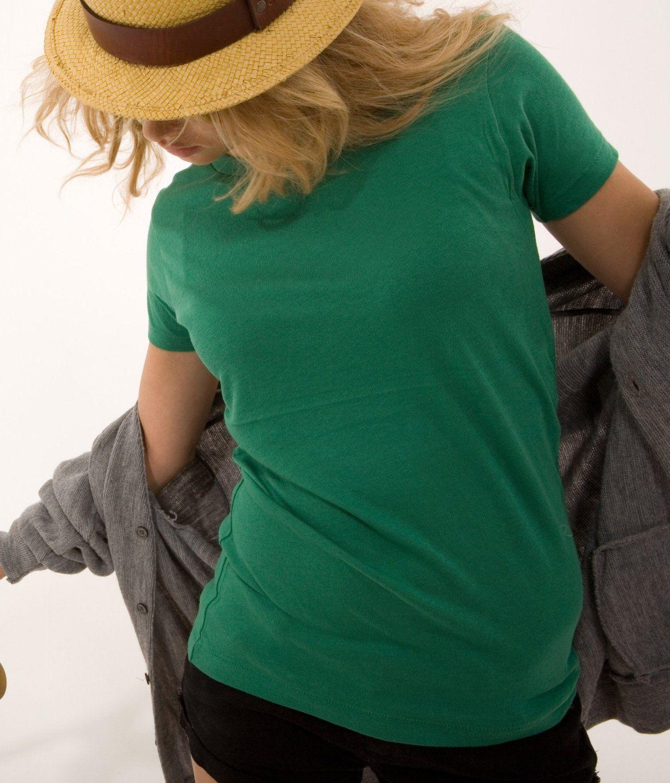 Alternative Apparel Ladies Backstage crewneck T-shirt. AA1003, (t-shirt, women, long-sleeve, tees, sheer, alternative, womens t-shirt, hb, burnout, juniors)