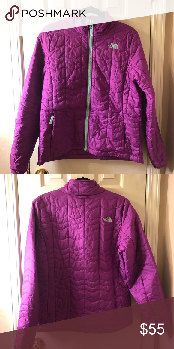 North Face Purple Light Puffer Jacket The north face purple light puffer  jacket b3299365c