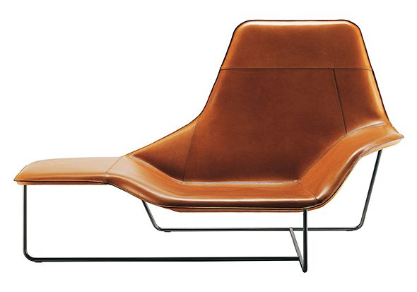Lama easy chair with leather upholstery, Zanotta. Love it!