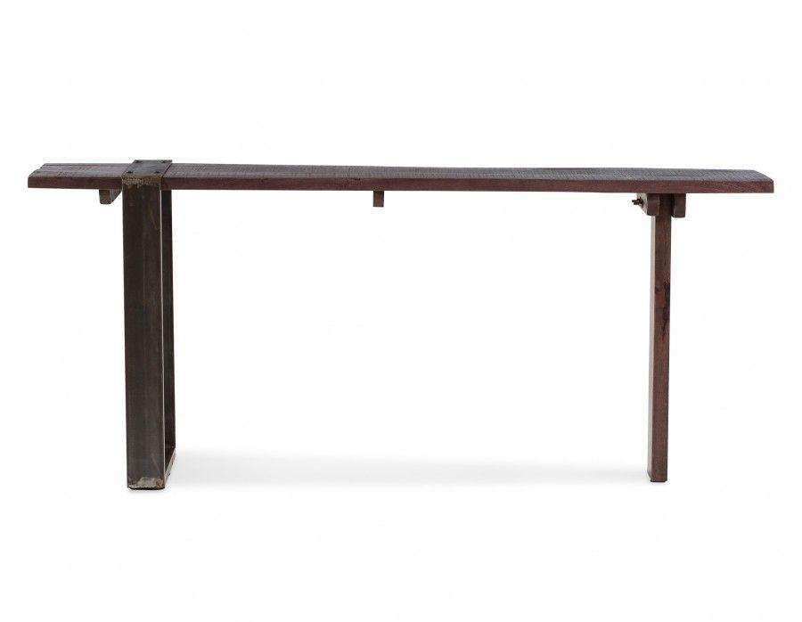 Georgia bureau en fer et en bois de manguier massif cm