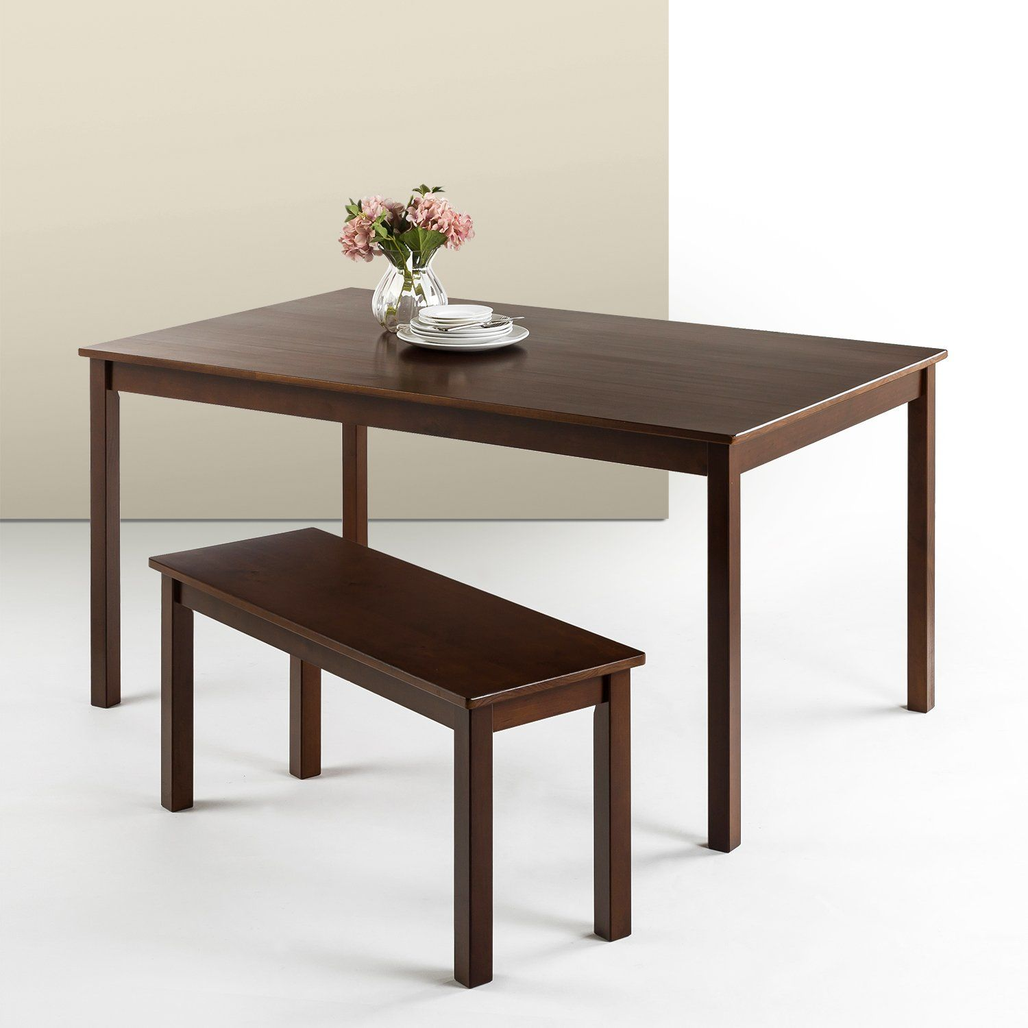 Zinus Espresso Wood Large Dining Table Table Only For More