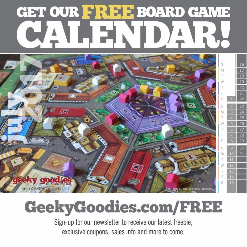 Have you gotten our FREE Board Game Calendar? It's an easy