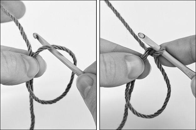 Magische ring: fototutorial rechtshandigen.