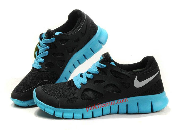 black silver tide pool blue nike free run 2 women s running shoes rh pinterest com