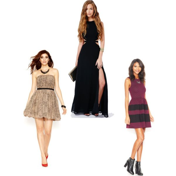A fashion look from December 2014 featuring GUESS dresses, Bar III dresses and Missguided gowns. Browse and shop related looks.