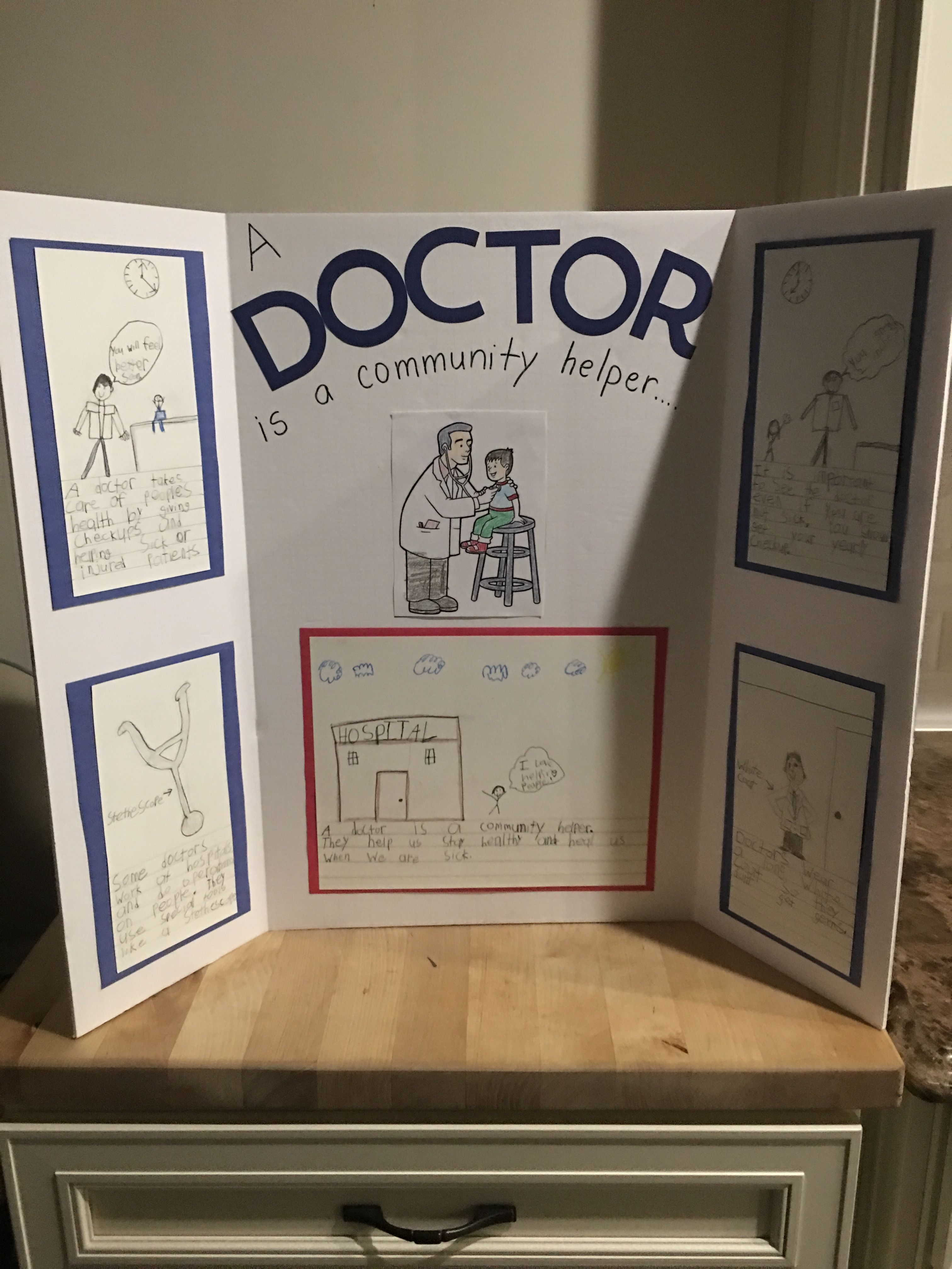 First Grade Community Helper Project Doctor Is A