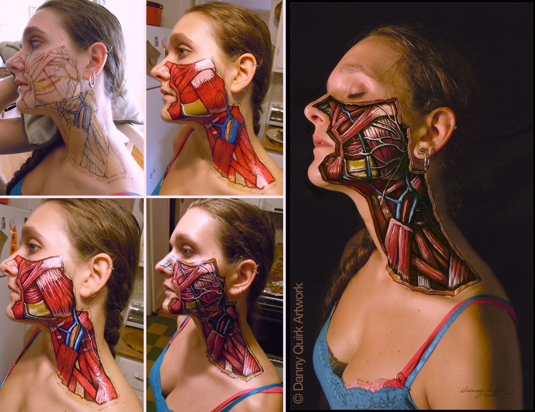 Artist Danny Quirk shared some anatomical pieces and answered some ...
