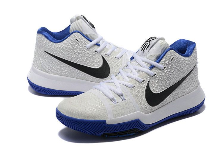 best service a261b 9f0f4 Mens Original Nike Kyrie 3 Basketball Shoes White Black ...
